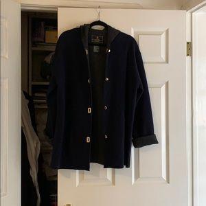 Wool blue pea coat